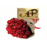 Buquê Luxo e Ferrero Rocher