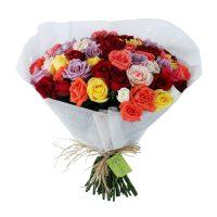 Buque de rosas colorido