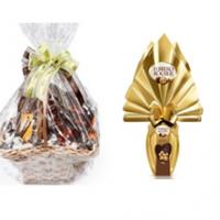 Cesta Chocolate 1 Com Ovo de Chocolate