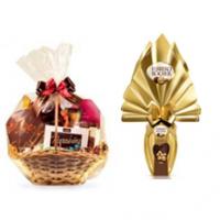 Cesta Chocolate 2 com Ovo de Chocolate
